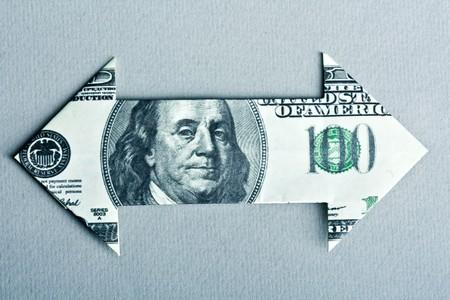 Dollar Bill Arrow  photo