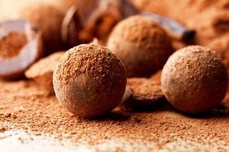 ganache: chocolate truffles