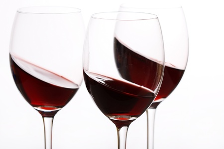glasses of red wine  photo