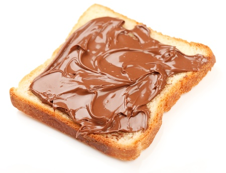 Toast with chocolate Stock Photo