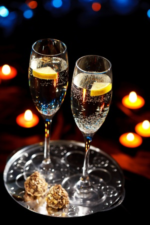 flutes of champagne photo