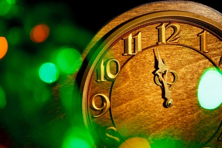 five minutes to New Year photo