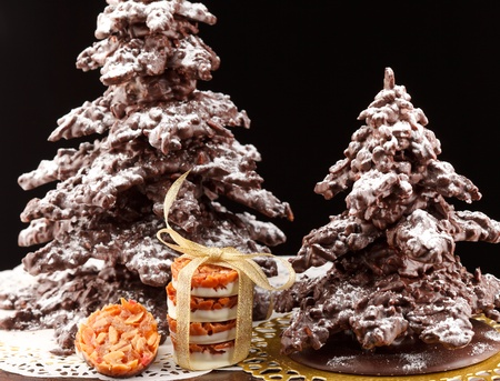 chocolate christmas: �rbol de Navidad de chocolate