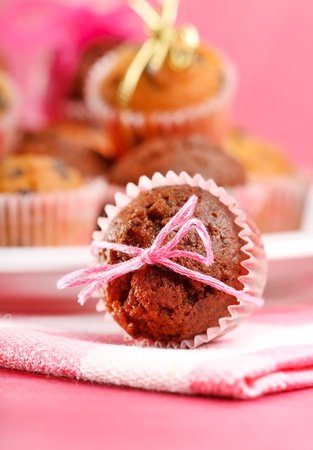 muffins with chocolate  photo