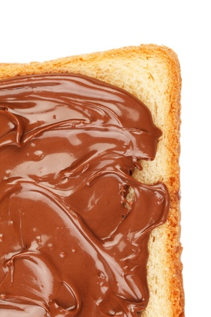 Toast with chocolate photo
