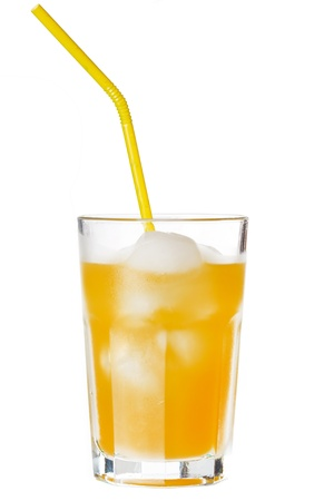 glass of orange juice with ice  Stock Photo - 8757607