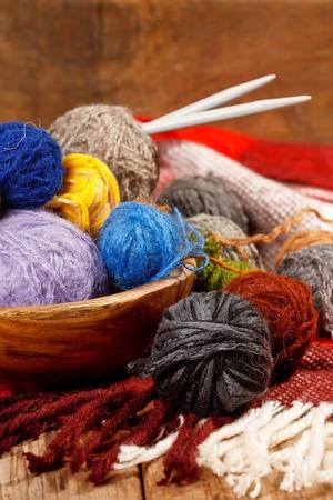 basket embroidery: wool knitting