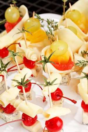 canape on the plate photo