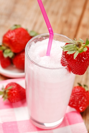 blended: strawberry smoothie
