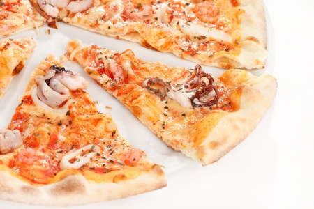 pizza with seafood photo