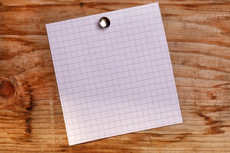 note paper on the wood background Stock Photo - 9063488