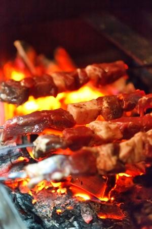 grilled pork: grilling lamb