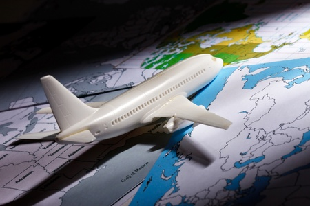 airliner with a maps photo