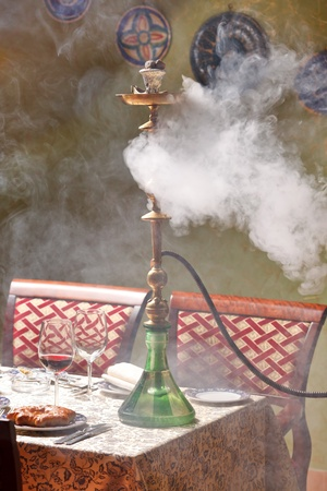 Hookah in the restaurant photo