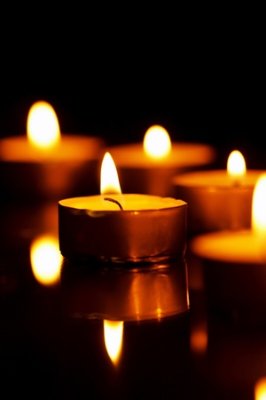 heat loss: candles in the dark