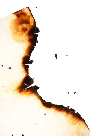 Burn hole in  paper  Stock Photo