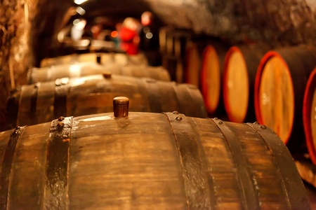 old wine cellar with barrels  Stock Photo - 9561883