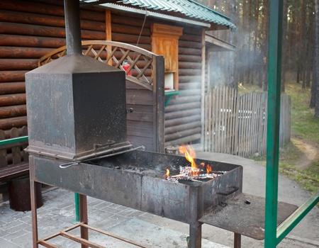 BBQ in the garden photo