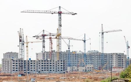 heavy construction: Construction work site
