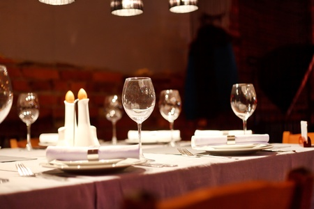Tables set for meal Stock Photo - 9670135