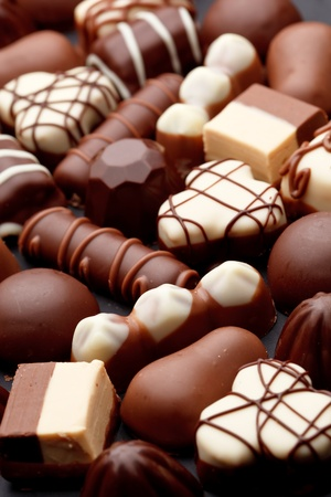 cafe bombon: dulces de chocolate Foto de archivo