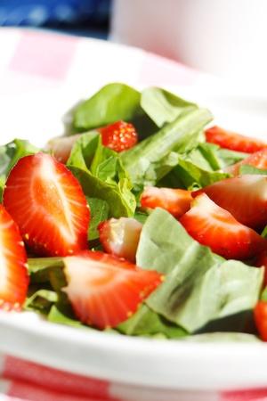 espinacas: Ensalada de Fresa
