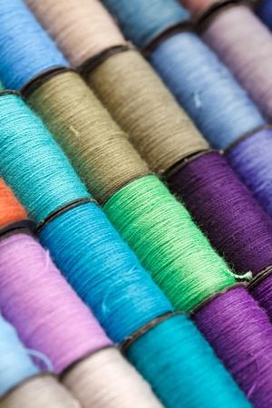 bobbins of lurex thread Stock Photo - 9915795