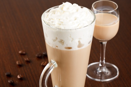 coffee with cream liqueur  photo