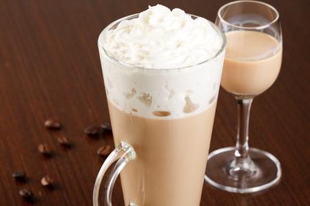 coffee with cream liqueur  photo