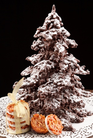 chocolate christmas: ?rbol de Navidad de chocolate
