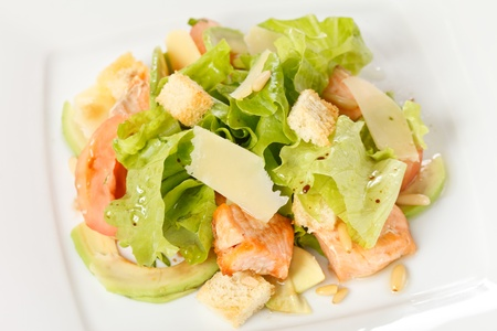 salad with salmon photo
