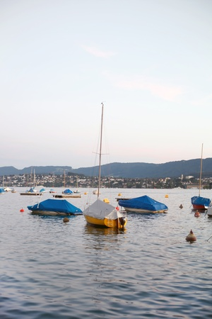 Sailboats on the lake  photo