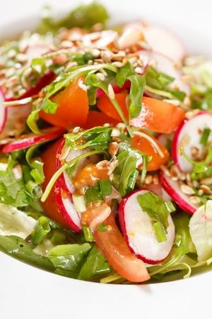 rocket lettuce: healthy vegetables salad