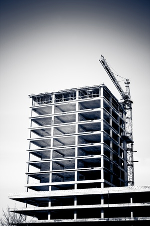 concrete commercial block: Building Construction site  Stock Photo