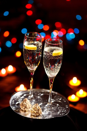 flutes of champagne Stock Photo - 10298446