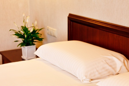 bed in a luxury hotel room  Stock Photo - 10351639