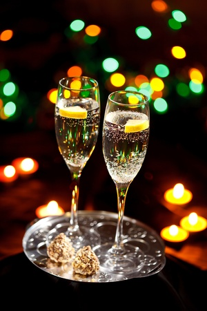 flutes of champagne Stock Photo - 10351674