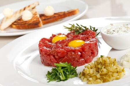 steak tartare: tasty tartare  Stock Photo