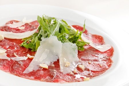 parmesan cheese: Meat Carpaccio with Parmesan Cheese