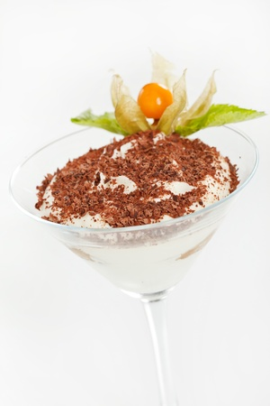 tiramisu in a glass photo