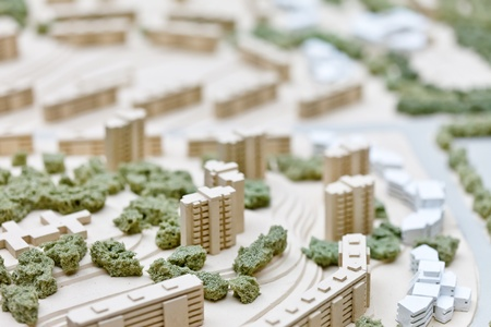 model home: model of a building