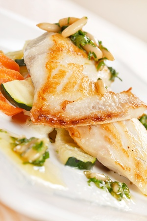 pangasius: fish with vegetables
