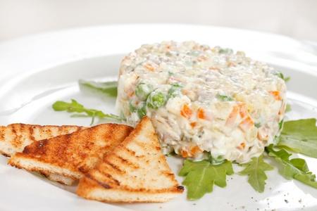 Russian traditional salad photo