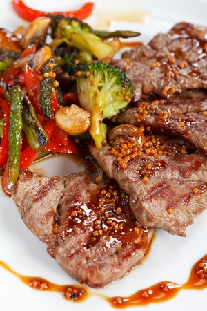 beef meat: meat with vegetables Stock Photo