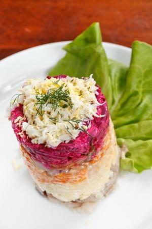 Russian herring salad photo
