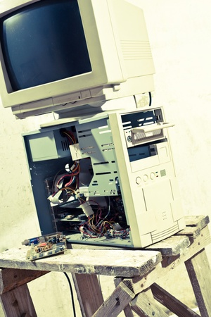 old office: old computer