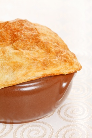 browned: Chicken pot pie  Stock Photo