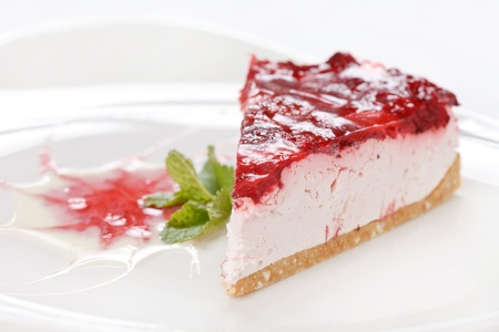 cherry cheesecake photo
