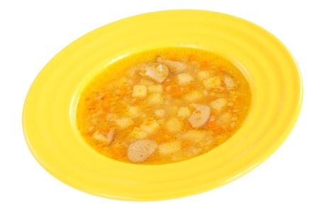 Fresh vegetable soup photo