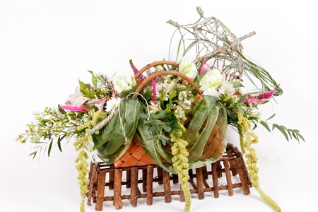 flowers in the basket  photo